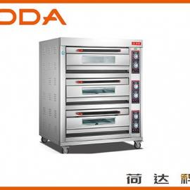 厂家直销3层6盘商用烤箱 荷达电烤箱
