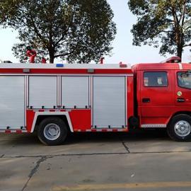 国五东风多利卡3吨水罐消防车图片参数价格