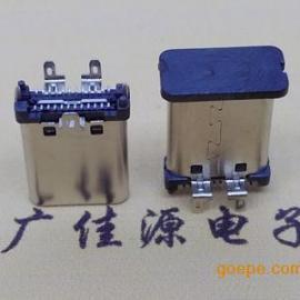 USB 3.1 Type C公�^直立式180 度三支�_�N板插座