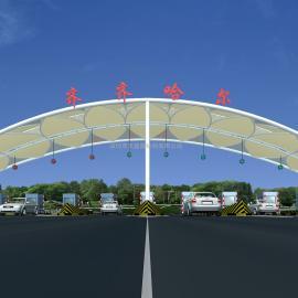 黑龙江张拉膜遮阳棚 ETFE张拉膜 黑龙江膜结构