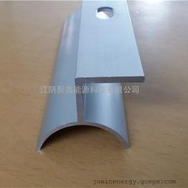 弧形彩钢瓦固定座 铝合金光伏夹具