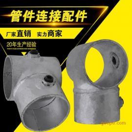王集新款48钢管连接件护栏管件@楼梯扶手配件扣件