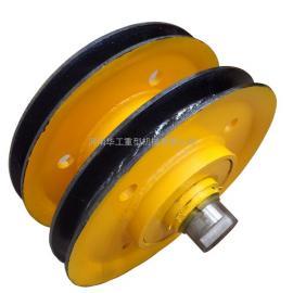 起重天轮带轴承滑轮 16T双梁吊钩轮片 环形滑车滑轮 郑州张家口