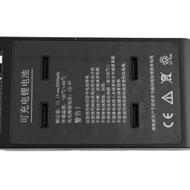 11.1V 5000mAh 18650超声探伤仪锂电池组