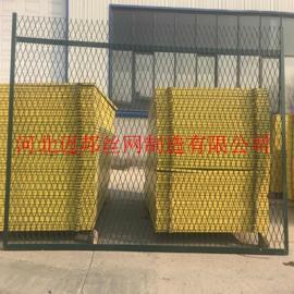 钢板网防护栅栏_浸塑钢板网防护栅栏_蒙华铁路钢板网防护栅栏