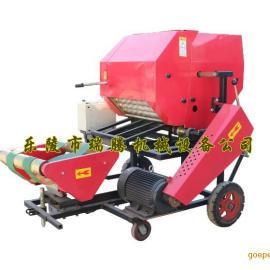山东优质青贮打捆机 玉米秸秆青贮打捆机 自动引膜包膜