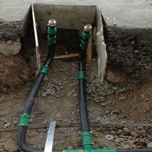 伊春加油站双层复合管改造