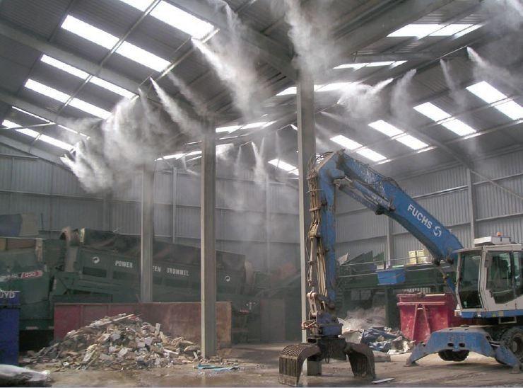 车间喷雾除尘加湿器 工厂车间喷雾除尘设备