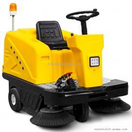 明诺驾驶式扫地车厂家直销工厂车间物业保洁用落叶垃圾扫地车