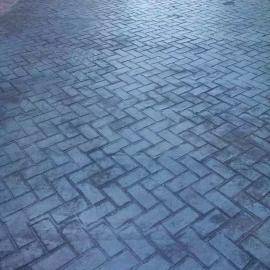 南京景观道路混凝土压花地坪施工