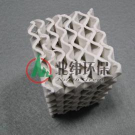 规整陶瓷波纹填料 波纹化工填料