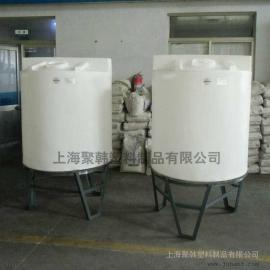 1000L锥底加药箱/1立方PE锥底加药箱搅拌桶