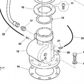 23120942英格索兰进气阀20立方进气阀HDKG-120