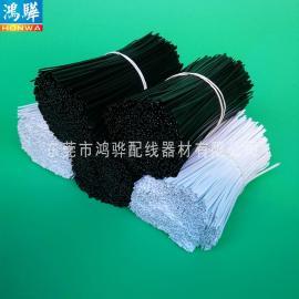 黑白电缆用pe铁芯扎带_东莞鸿骅双面镀锌电线扎带