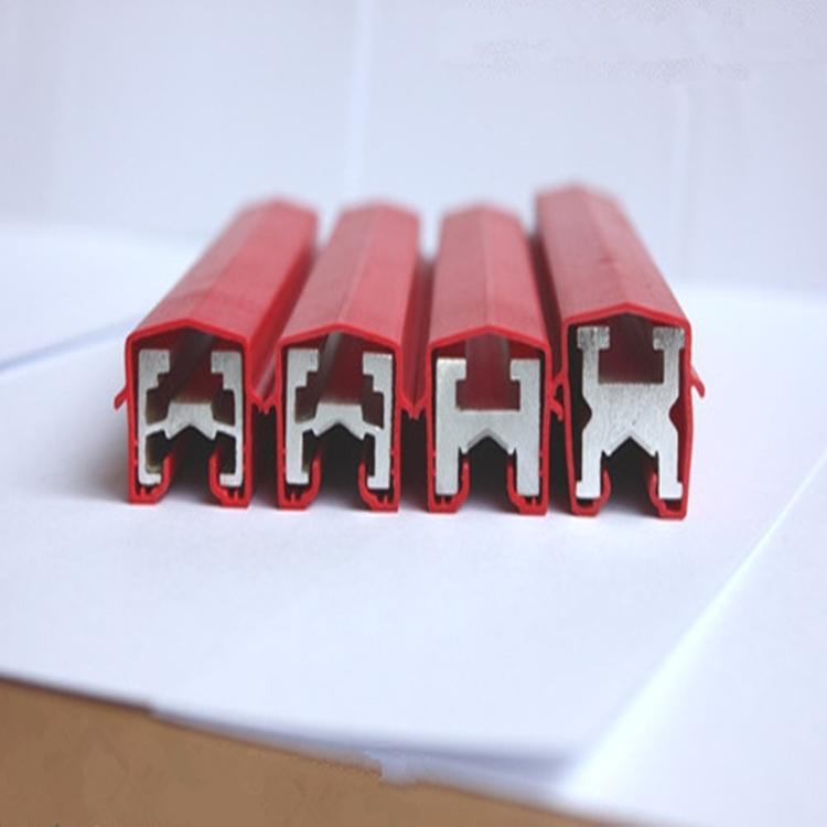 单极安全滑触线 室外龙门吊弧形单极电轨 H型500A铝滑线