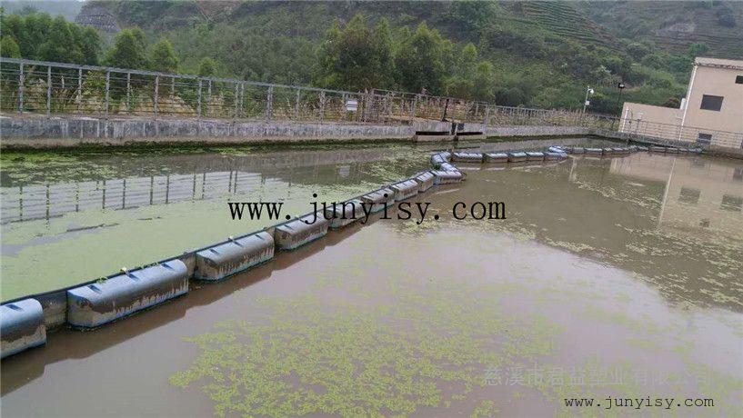 水务专用水上塑料浮体 直径500*800孔径250拦污PE浮体