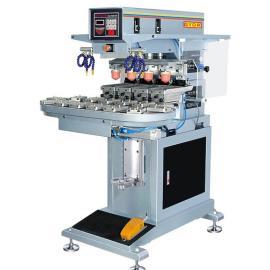 长期批发GN-117AEB转盘气动移印机 四色功能实用台式移印机
