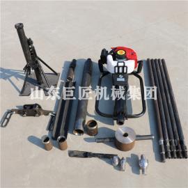 10米汽油机轻便土壤取样钻机山东华夏巨匠QTZ-1