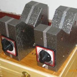 磁性V型架用途磁性V性价规格磁性V型架介绍铸铁平台地轨