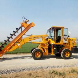 供应CS-7铲车式电线杆打桩机 电力电信工程挖坑设备