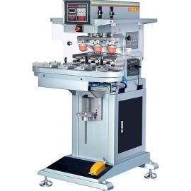 厂家直销三色节能灯移印机 GN-130AB密封移印机 三色转盘移印机