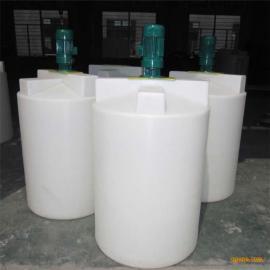 厂家直销圆形立式加药箱500L大口PE搅拌桶食品级塑料加药箱