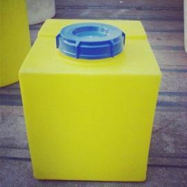 厂家直销 120L方形加药箱pe水箱 塑料储罐搅拌罐加药桶储水罐
