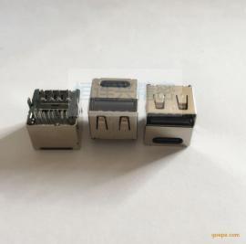 Type-c 14P母座+USB 2.0母座二合一 双层短体11.0m