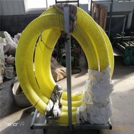 内径102mm牛筋塑胶管小型吸粮机,每小时8吨左右输送量