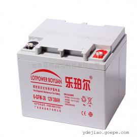 乐珀尔蓄电池6-GFM-38现货批发供应12V38Ah铅酸蓄电池