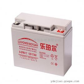 乐珀尔蓄电池6-GFM-17/现货销售12V17Ah机房用铅酸蓄电池报价