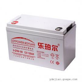乐珀尔蓄电池6-GFM-100现货批发供应12V100Ah铅酸蓄电池产品特点
