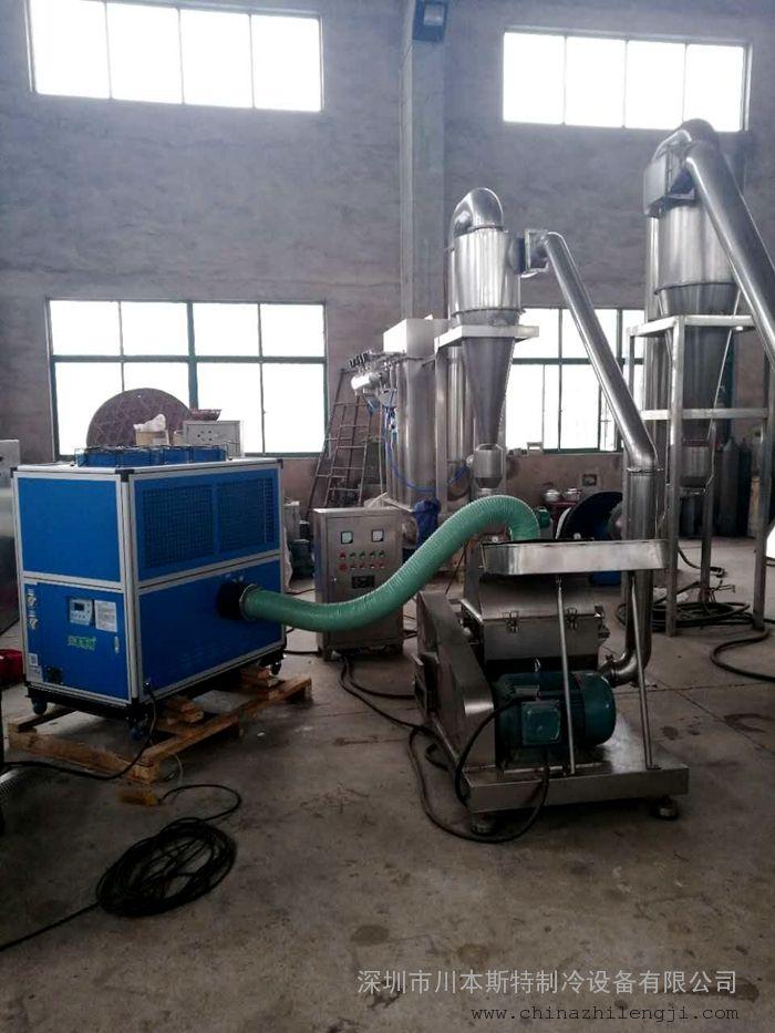 低温粉碎机选配冷冻机(冷气机)应用案例