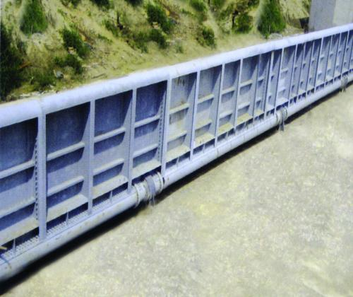 钢坝、翻板门工作原理