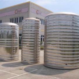 圆形不锈钢保温水箱安装