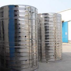 不锈钢圆形水箱前景