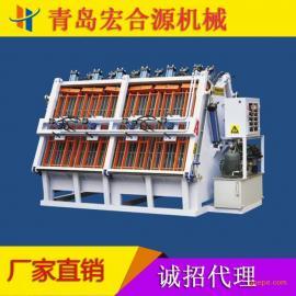 供应 液压A型加热式拼板机 全自动热压拼板机 双面高频拼板机