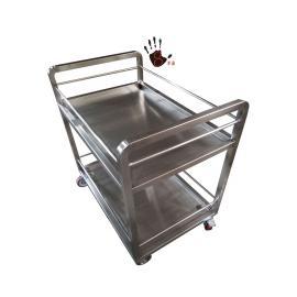 304不锈钢餐车配菜推车双层糕点手推车批发 定制不锈钢