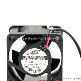 全新原装ADDA AD0412LB-B31 4028 12V0.14A 4CM两线静音散热风扇
