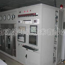 冷藏库紧缩机效果初试、紧缩机效果初试、紧缩机台、紧缩机效果试验