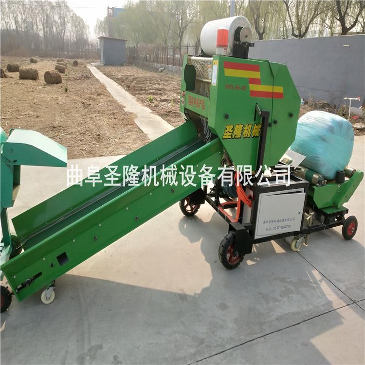 畜牧业饲料青贮打捆机 全自动青贮裹包机
