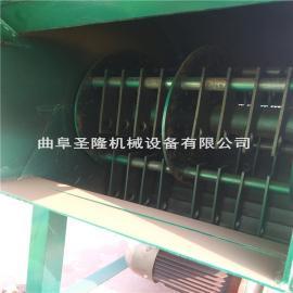固定式稻草秸秆揉丝机 鲜秸秆粉碎揉搓机