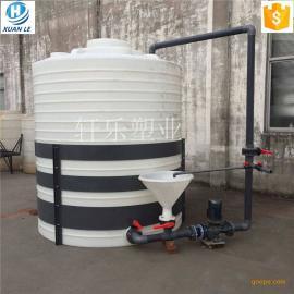 加厚塑料pe6吨 6立方米塑料桶化工桶水箱污水罐 塑料储罐价格