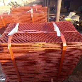 宁波0.8*1.2米包边钢笆片一吨报价――建筑脚手架防滑钢笆网&喷漆