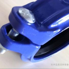 蓝晶沟槽卡箍 工程建筑铸铁沟槽管件 消防高压钢卡 刚性卡箍