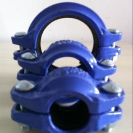 供应沟槽刚性卡箍 管道消防工程专用 球墨铸铁