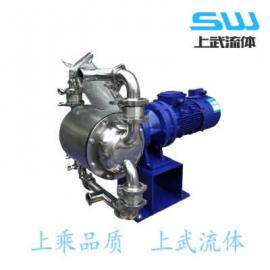 快装式电动隔膜泵 卡箍式电动隔膜泵 全不锈钢电动隔膜泵