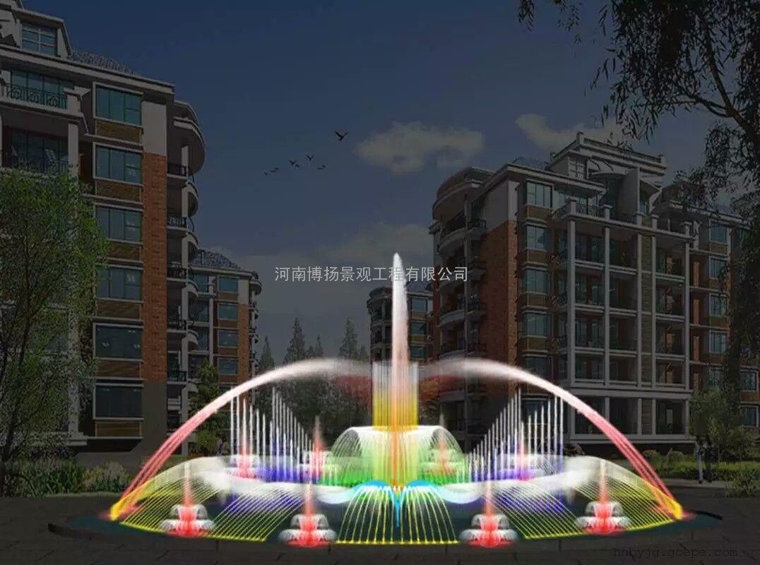 新乡音乐喷泉设计,新乡音乐喷泉安装施工,河南博扬喷泉公司