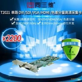 同三维T2021 一路高清(SDI/DVI/VGA/HDMI/分量)或AV、S端子)