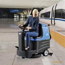 工厂车间用驾驶式洗地机容恩R-XBEN 商场机场用可进行多楼层工作